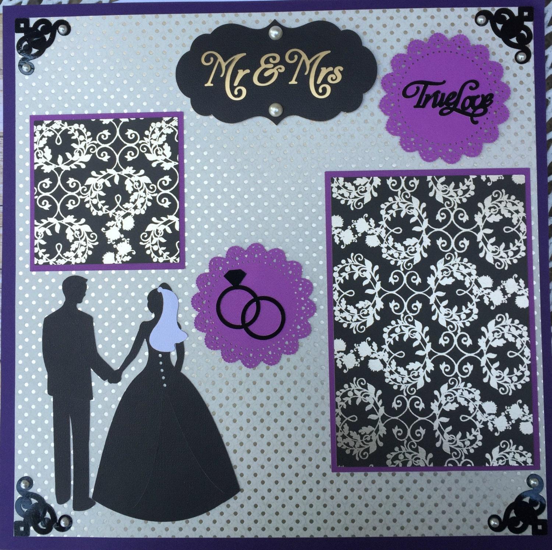 Wedding Scrapbook Page 12x12 Premade Mr Mrs
