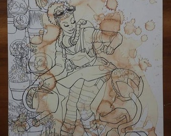Original Illustration A4 print Steampunk