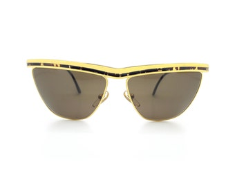Genuine Vintage 1980s Vogart 3022 Gold Cateye Sunglasses // New Old Stock