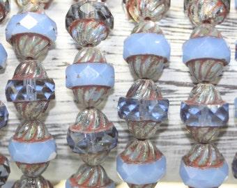Czech Glass, Turbine Beads, 11x10mm, 15 Beads