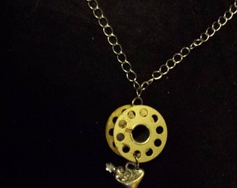 Martini Sewing Spool Necklace