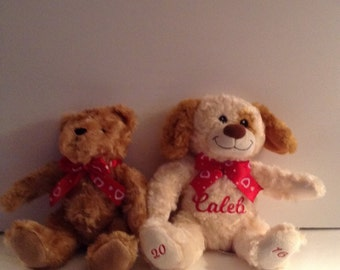 Valentine's Day Plush Personalized Teddy Bear or Dog