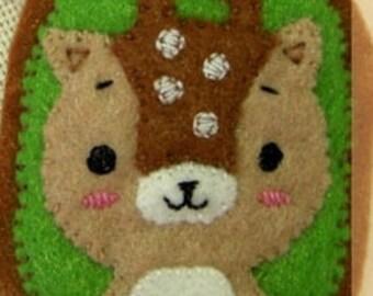 Fawn Felt Brooch Animal Brooch  Felt Accessories Felt Pin Handmade  jewelry Cute pin Gifts for girl