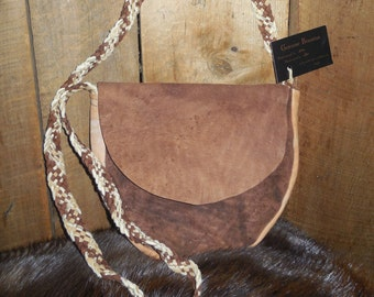 Handcrafted, Home-tanned Leather Bag