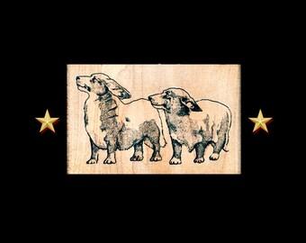 CORGI Rubber Stamp, Pembroke Welsh Corgis Rubber Stamp, Dog Stamp, Dog Rubber Stamp, Pembroke Welsh Corgi, Corgi Stamp, Corgi Gift, Corgis