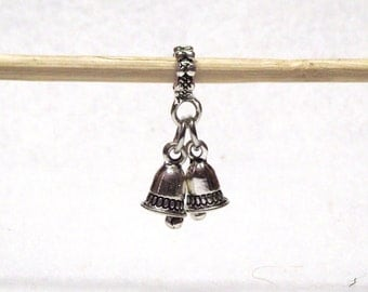 Darling Little Silver Plated Jingle Bells Charm Fits European Charm Bracelets 23mm x 17mm B01331