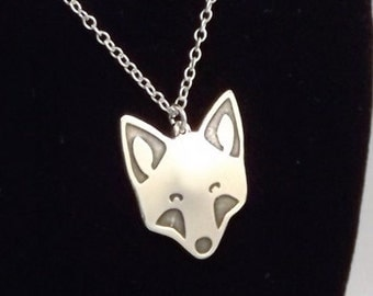 Clearance - Fox Pendant, Sterling Silver
