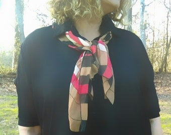 Vintage checkered neckerchief