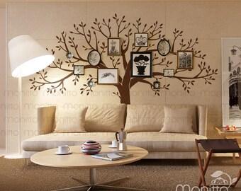 Giant Family Photo Memory Tree, Wall Decal, Kids room Wall Decal, Nursery Wall Stickers, Family Tree Decal, Wall Stickers,Tree [MT039]