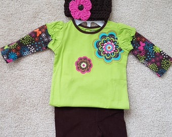 Baby Girl Hippy Print Outfit