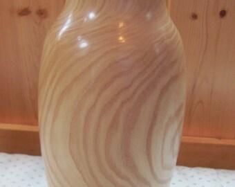 Ash wooden vase
