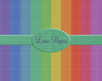 10 Digital Linen Papers, great for digital, crafting, scrapbooking, photography, 300dpi jpeg files, Bright colours