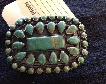 Green turquoise cluster buckle