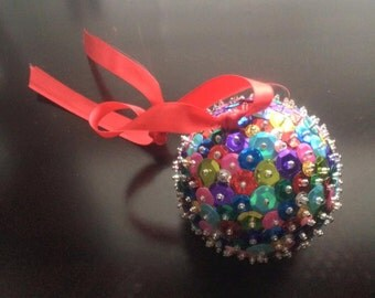 Multi-Colored Sequin Ornament