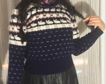 Bunny Love Shetland Wool Sweater