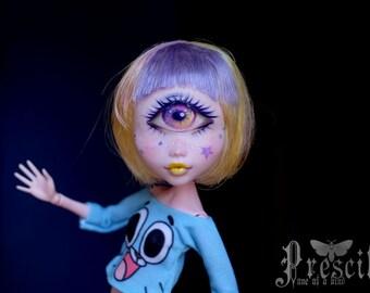 Custom Draculaura Cyclops Monster Doll OOAK Repaint by Prescilla