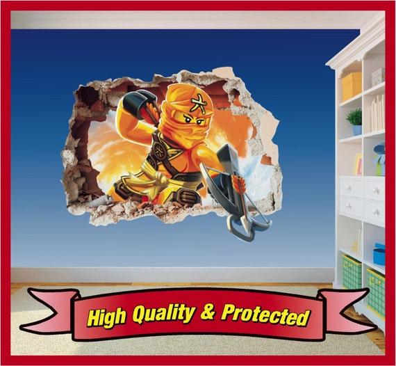 Lego ninjago skylor trou dans art mural stickers autocollant for Autocollant mural francais