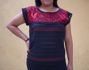 Embroidered Mexican Blouse Medium