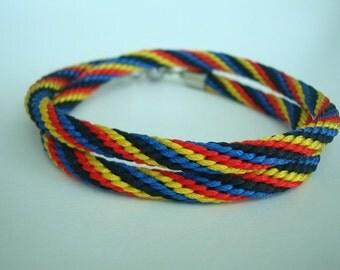 Colorful braided rope bracelet  Kumihimo bracelet Friendship bracelet Japan style Bracelets for women Teen girl gift Gift ideas for her