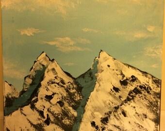 Acrylic Mountain Range