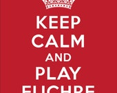 Keep Calm and Play Euchre Red T-shirt