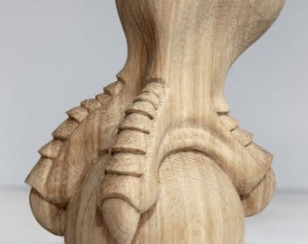 Eagle Foot   High Quality Hand Carved Furniture Leg For Coffe Table Support  Carved Decor