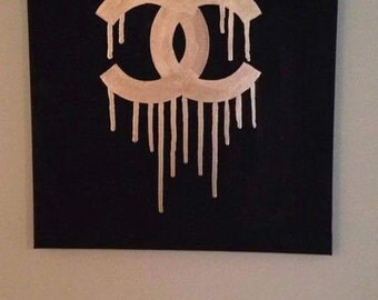 Dripping Chanel Painting