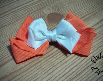 Orange Two Layer Bow