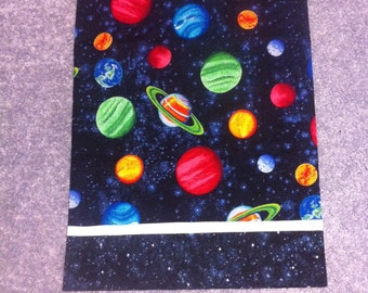 Planets outer space kids children's pillowcase