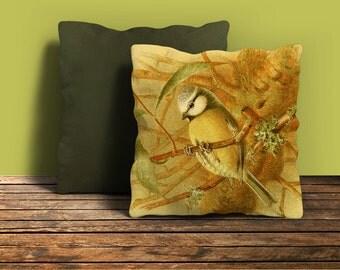 Nature Bird Decor Pillow,Retro, Vintage Style Pillow, Bird Pillow Cover, Decorative Pillows, Home Decor, Accent Pillow, FREE Shipping,