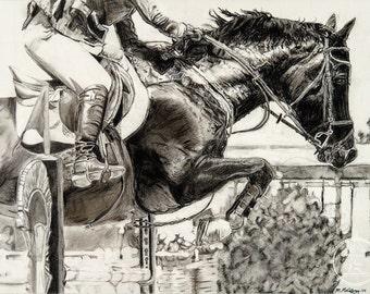 Fine Art Print Charcoal Horse
