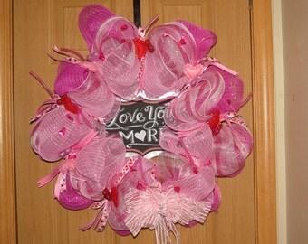 """18"""" """"Love You More"""" Valentine Wreath"""