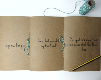 Bridesmaids Quotes - Sketchbook, writing journal, notebook, cute diary, scrapbook, A5 journal
