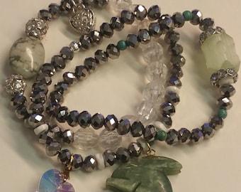 Silver and Jade Bracelets