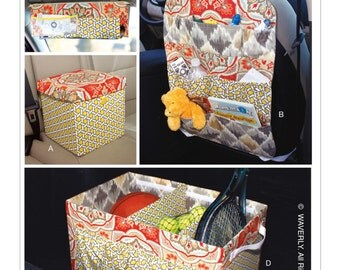 Sewing Pattern for Car Organizers , Butterick Craft Pattern 6228, Waverly Pattern, Seat Back Organizer, Trunk Organizer, Visor Organizer,etc