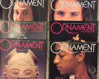 Ornament; Ancient, Contemporary, Ethnic: Vol. 15, No. 2; Winter,  8 different 1991 to summer 1995