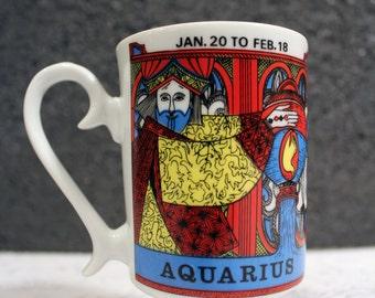 Vintage Aquarius Pedestal Mug by Royal Crown