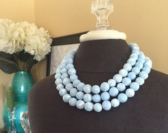 Serenity Marbled Chunky Statement Necklace