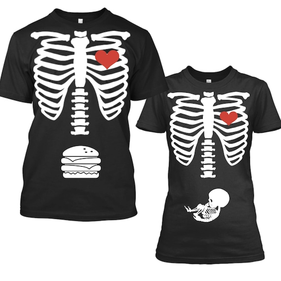 Halloween Pregnancy Announcement Shirt, Pregnancy Announcement Halloween, Halloween Pregnancy Shirt, Halloween Maternity Shirt, Skeleton Tee