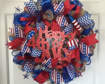 Happy 4th of July Wreath