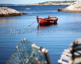 Fisher boat at Peggy's cove ; Nova Scotia, Canada