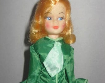 1870's Fashion,handmade to fit Barbie ,11.5 inch doll with stand included