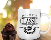 49th birthday mug, CLASSIC, 1967 MODEL, 49th birthday, personalized mugs, birthday gift, coffee mug, tea, mug, cup, for him, for her