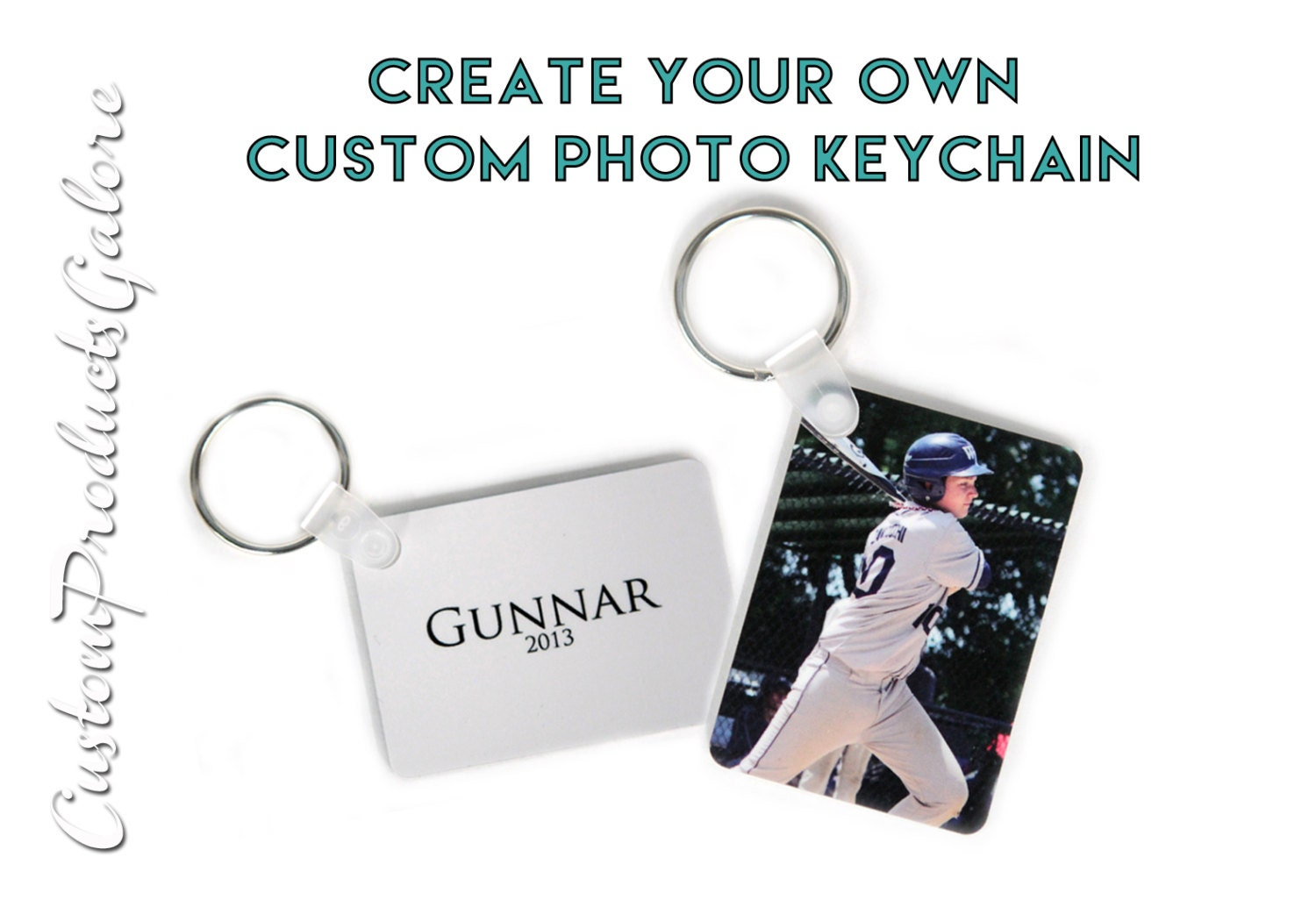 Create your own custom photo keychain personalized great for Create your own