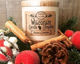 Balsam and Cinnamon Soy Candle