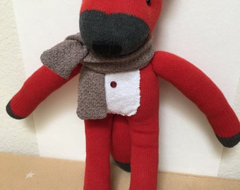 A Handmade Cute Fox Doll/ Red Fox doll / Handmade doll / Baby shower gift / Baby birth gift/ Animal plush / Bedroom decoration