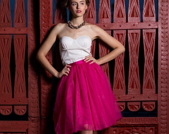 Fucsia Tulle Skirt