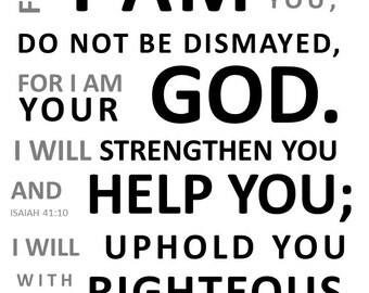 Isaiah 41:10 Board