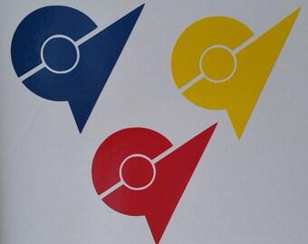 Pokemon Go Gym Badge Decal / Sticker - Team Valor, Team Instinct, Team Mystic - your choice