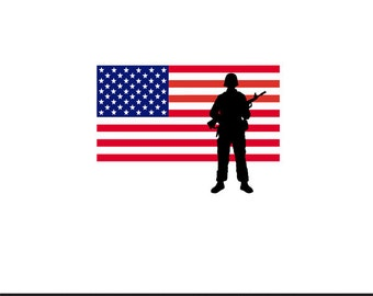 america flag soldier stencil svg dxf file instant download silhouette cameo cricut clip art commercial use